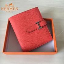 HERMES包包-07   愛馬仕H扣短夾錢包