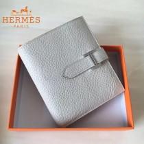 HERMES包包-07-04   愛馬仕H扣短夾錢包