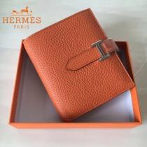 HERMES包包-07-07   愛馬仕H扣短夾錢包