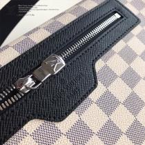 N40019新款原版皮   白格斜背包Matchpoint郵差包