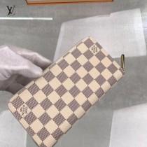 N60139 原版皮 Damier Azur帆布版Zippy拉鏈錢夾