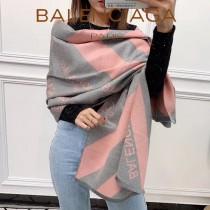 巴黎世家 絲 羊絨圍巾披肩 男女同款 尺寸:180x70cm