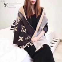 LV 同款REYKJAVIK GRADIENT系列漸變色兔絨羊絨圍巾 尺寸:60×190cm