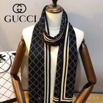GUCCI 男士冬季 針織羊毛圍巾  新工藝柔軟 順滑 規格:180X30cm