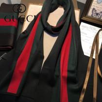 GUCCI 男士冬季  羊毛圍巾  新工藝柔軟 順滑 規格:180X30cm