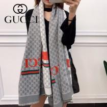 gucci 紅綠條 超級爆 加厚款  秋冬羊毛混紡圍巾  雙面可用 尺寸:70X180cm