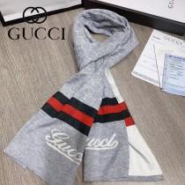 gucci 男士冬季精品 針織羊毛圍巾 規格:180x30cm
