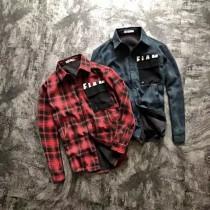 阿樂X冠希同款示範!情侶加絨加厚寬松織布襯衫外套!