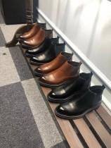 看著都想穿的鞋子!復古擦色油蠟牛皮!男士休閑皮鞋!