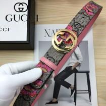 GUCCI皮帶-012-04  古馳原單牛皮塗鴉皮帶