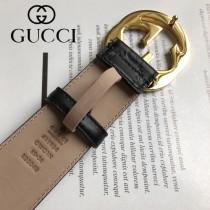 GUCCI皮帶-011-01  古馳原單牛皮壓G面皮帶