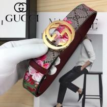 GUCCI皮帶-012-02  古馳原單牛皮塗鴉皮帶