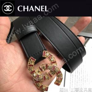 CHANEL皮帶-01-02  香奈兒原單頭層牛皮雙面平紋皮帶