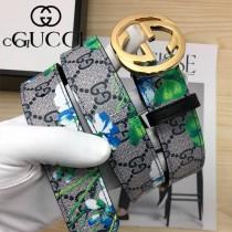 GUCCI皮帶-012-06  古馳原單牛皮塗鴉皮帶