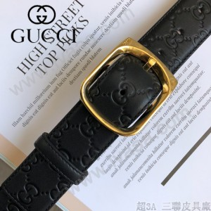 GUCCI皮帶-09-01  古馳原單牛皮壓G面皮帶