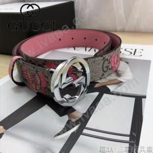 GUCCI皮帶-012-03  古馳原單牛皮塗鴉皮帶