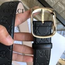 GUCCI皮帶-09-02  古馳原單牛皮壓G面皮帶