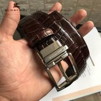 BURBERRY皮帶-4-01  巴寶莉原單牛皮鱷魚紋皮帶