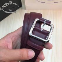 PRADA皮帶-4-02  普拉達原單牛皮平紋皮帶