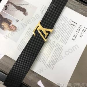 LV皮帶-10-01  路易威登原單牛皮壓格皮帶