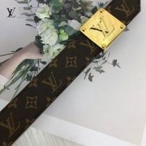 LV皮帶-4-01  路易威登原單優雅風格皮帶