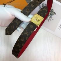 LV皮帶-3-02  路易威登原單優雅風格皮帶