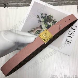 LV皮帶-1-02  路易威登原單雙面設計皮帶