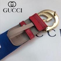 GUCCI皮帶-13-02  古驰原单织带头层牛皮接尾皮帶