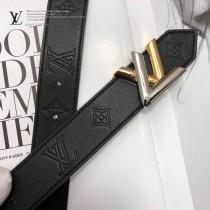 LV皮帶-9-01  路易威登原單牛皮壓花皮帶