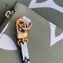 LV-M41177-01  路易威登原版皮綠拼色中號購物袋