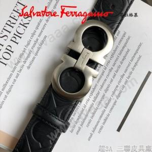 Ferragamo皮帶-1-02  菲拉格慕原單牛皮壓花紋皮帶