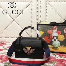 GUCCI-476541-09   古馳新款原版皮手提斜背包