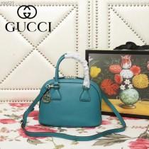 GUCCI-449661-02   古馳新款原版皮貝殼包
