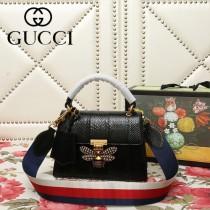 GUCCI-476541-04   古馳新款原版蟒蛇皮手提斜背包