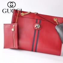 GUCCI-537219-06   古馳新款原版皮中號購物袋