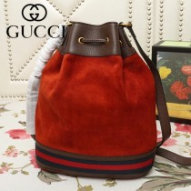 GUCCI-540457-02   古馳新款原版皮復古桶包
