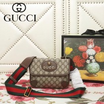 GUCCI-501050-02   古馳新款原版皮中性mini郵差包