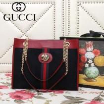 GUCCI-537220-02   古馳新款原版皮購物袋