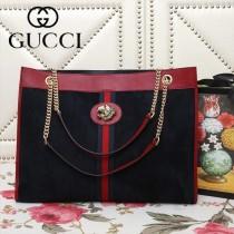 GUCCI-537219-02   古馳新款原版皮中號購物袋