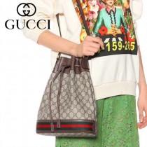 GUCCI-540457-01   古馳新款原版皮復古桶包