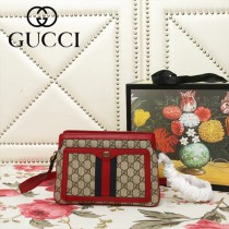 GUCCI-523355-02   古馳新款原版皮斜挎手提包