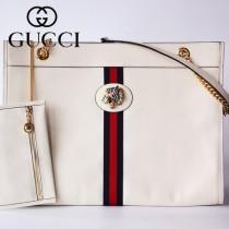 GUCCI-537219-05   古馳新款原版皮中號購物袋