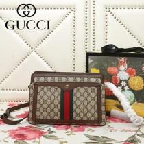 GUCCI-523354-01   古馳新款原版皮斜挎手提包