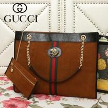 GUCCI-537219-01   古馳新款原版皮中號購物袋