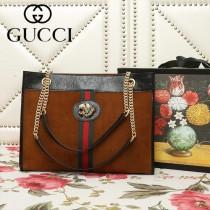 GUCCI-537220-01   古馳新款原版皮購物袋