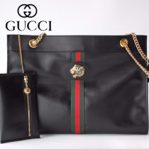 GUCCI-537219-04   古馳新款原版皮中號購物袋