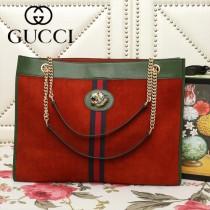GUCCI-537219-03   古馳新款原版皮中號購物袋