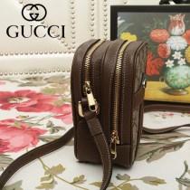 GUCCI-546595   古馳新款原版皮Ophidia系列斜挎小包