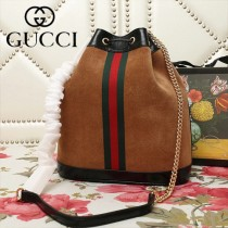 GUCCI-553961-03   古馳新款原版皮水桶包