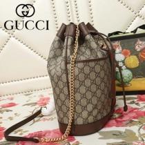 GUCCI-553961-04   古馳新款原版皮水桶包